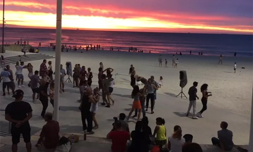 Evening Salsa Dancing At Scarborough Beach
